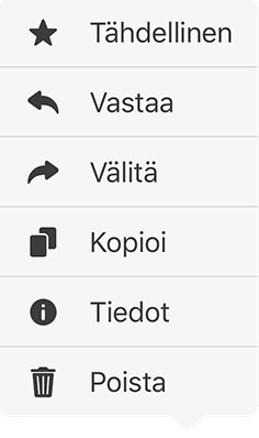 Whatsapp poistavalikko
